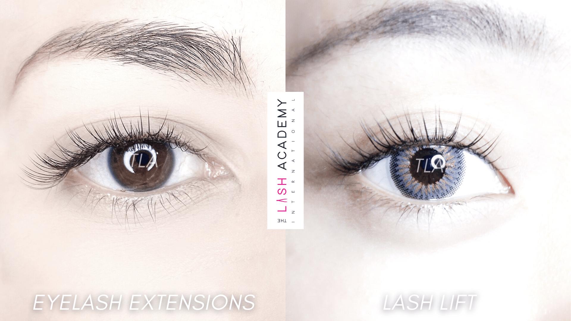 Lash lift vs Eyelash Extensions The Lash Academy